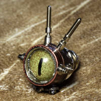 Steampunk eye tie tack 3 by CatherinetteRings