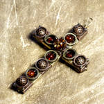 Steampunk jewelry crucifix
