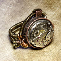 steampunk jewelry Ring a by CatherinetteRings