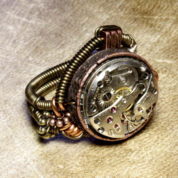 Is Steampunk Jewelry A Craft Or An Art: Steampunk Jewelry Ring A By CatherinetteRings On DeviantArt