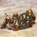 Amber steampunk Bracelet