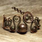 Etched steampunk Bracelet