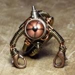 Stempunk Robot Ring