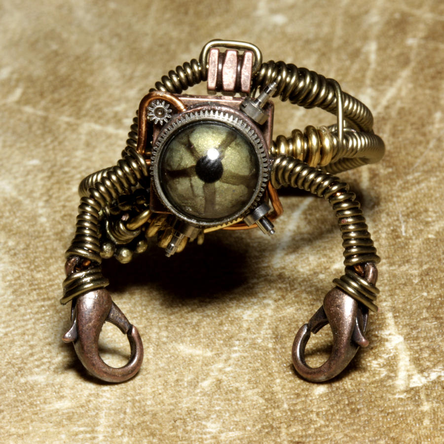 Stempunk jewelry Robot Ring 2 by CatherinetteRings