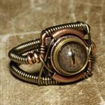 Steampunk Ring Brass eye