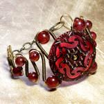 Cranberry Steampunk Bracelet