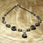 Steampunk Necklace black white