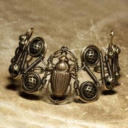 Steampunk Bracelet Scarab by CatherinetteRings