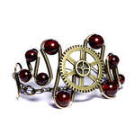 Steampunk cherry bracelet