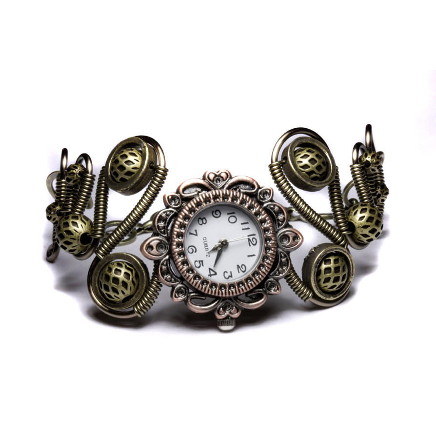 steampunk bracelet watch by CatherinetteRings