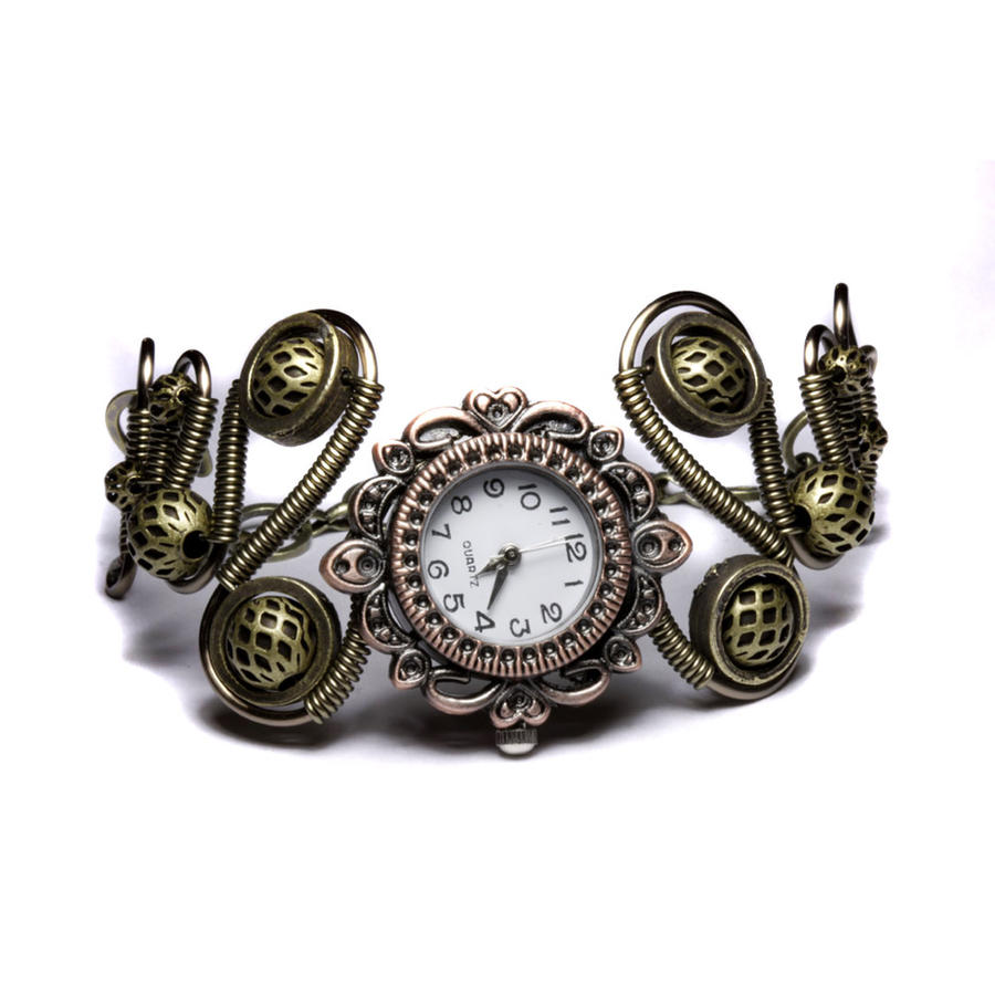 steampunk bracelet watch by CatherinetteRings