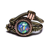 steampunk ring Lab Opal 4 by CatherinetteRings