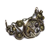 steampunk bracelet clockwork 2 by CatherinetteRings