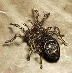 Steampunk spider sculpture 5