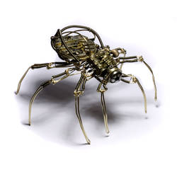 Steampunk Spider Sculpture 10 by CatherinetteRings
