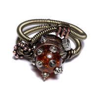 Steampunk Ring clock parts by CatherinetteRings