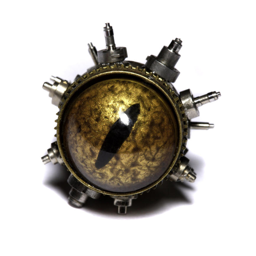 golden_reptile_steampunk_pin_by_catherin
