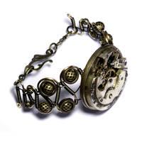 New steampunk Bracelet by CatherinetteRings