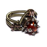 Steampunk Ring OOAK by CatherinetteRings