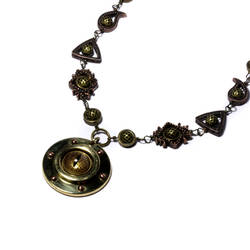 Steampunk golden eye Necklace by CatherinetteRings