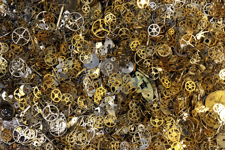 Steampunk Gears Parts Pile 1 By CatherinetteRings On