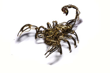 Steampunk Scorpion Robot by CatherinetteRings