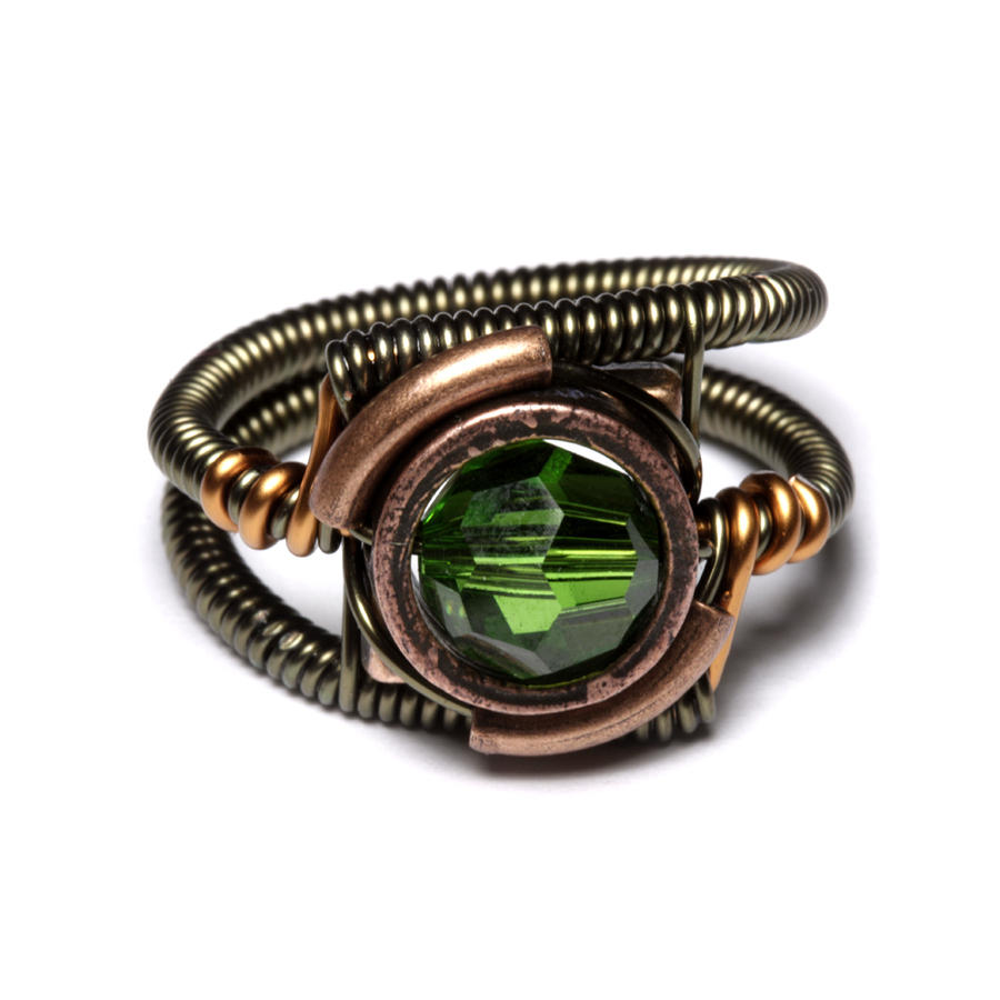 Steampunk Fern Green Ring By Catherinetterings Steampunk Fern Green Ring By  Catherinetterings