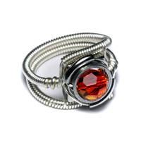 Cyberpunk fire Opal Ring by CatherinetteRings