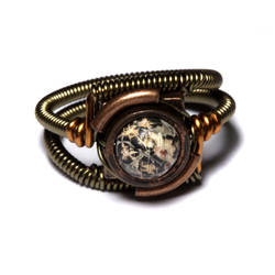 Steampunk Ring Leopardskin by CatherinetteRings