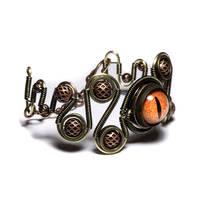 Steampunk Eye Bracelet Jewelry by CatherinetteRings