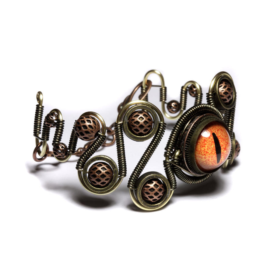 Steampunk eye bracelet jewelry by catherinetterings on for Steampunk arts and crafts