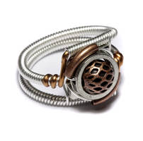 Steampunk Ring Silver Copper by CatherinetteRings