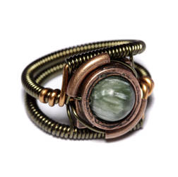 Steampunk Ring seraphinite