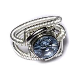 Cyberpunk Aquamarine Ring by CatherinetteRings
