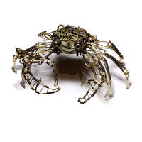 Steampunk Crab Robot Sculpture by CatherinetteRings