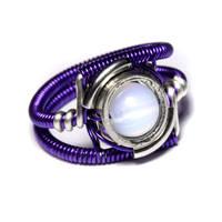 Cyberpunk purple ring by CatherinetteRings