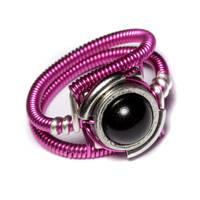 Cyberpunk fuchsia Ring by CatherinetteRings