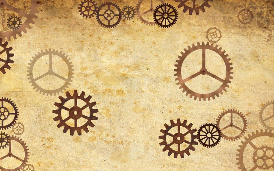 Steampunk Twitter Background By CatherinetteRings