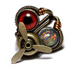 Steampunk Propeller Eye Ring