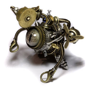 Airship Steampunk Beholder Bot by CatherinetteRings