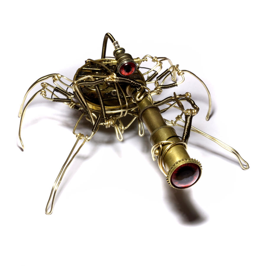 Steampunk Spy Arachnid Robot by CatherinetteRings