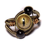 Steampunk Ring Gold and Black