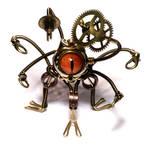 Steampunk Xorn Robot Sculpture