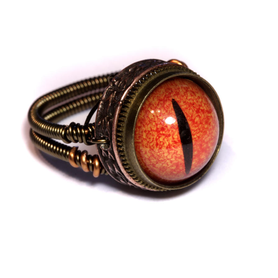 by dragon ring steampunk art evil deviantart rings red catherinetterings on