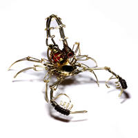 Steampunk Scorpion Sculpture by CatherinetteRings