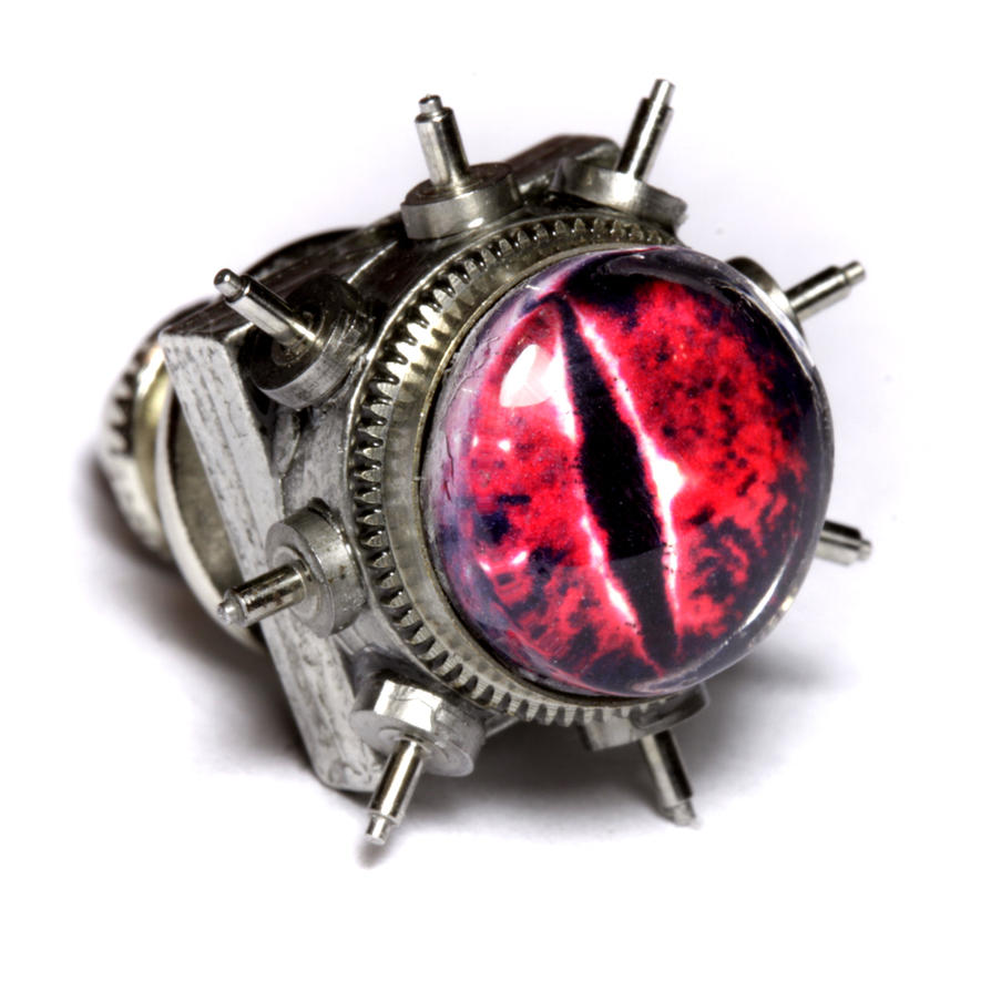 Steampunk Red Dragon Pin by CatherinetteRings