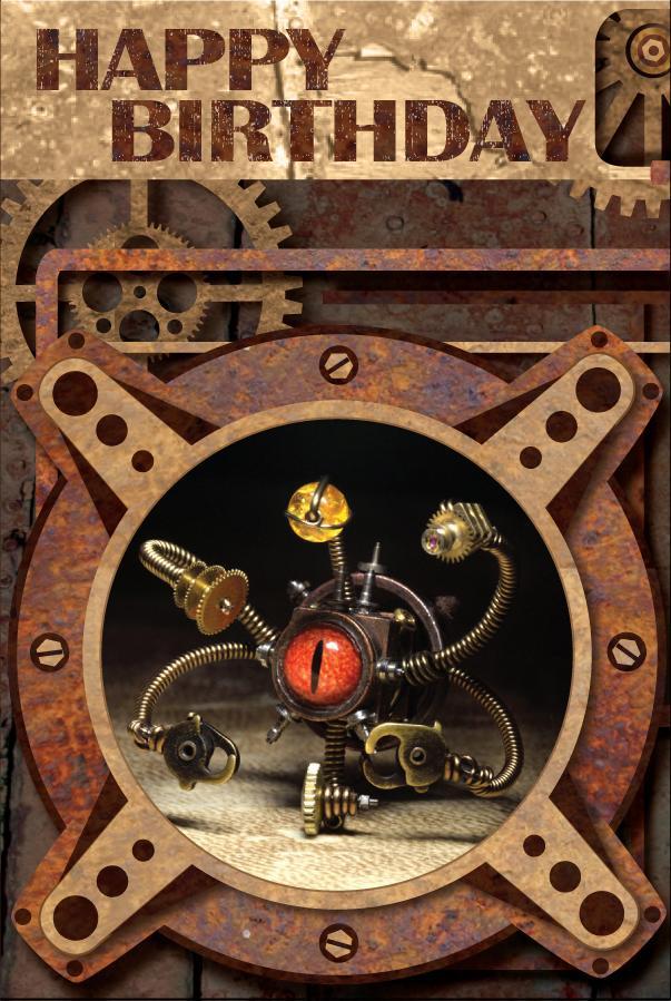 Steampunk Happy Birthday Card by CatherinetteRings on DeviantArt – Steampunk Birthday Card
