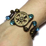 Steampunk blue Bracelet