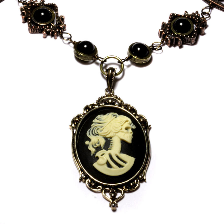 chain the pewter complete gothic pendant rose black necklace comes with goth of romantic romance