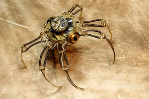 Steampunk pseudo-Spider Robot by CatherinetteRings
